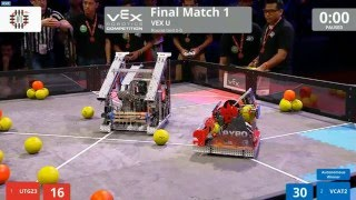 Vex U 2016 Nothing But Net World Championship Final 1
