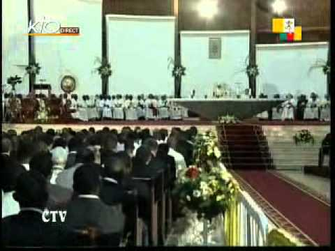 Célébration des vêpres à Yaoundé