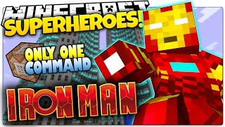 minecraft   how to be a superhero   iron man   only one command one command creation