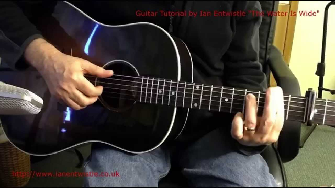 The Water Is Wide James Taylor Guitar Tutorial Dvd Youtube