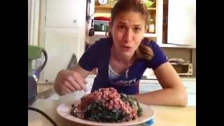 Uncooked CAPONATA over NOODLES or as a DIP- Raw Food Recipe