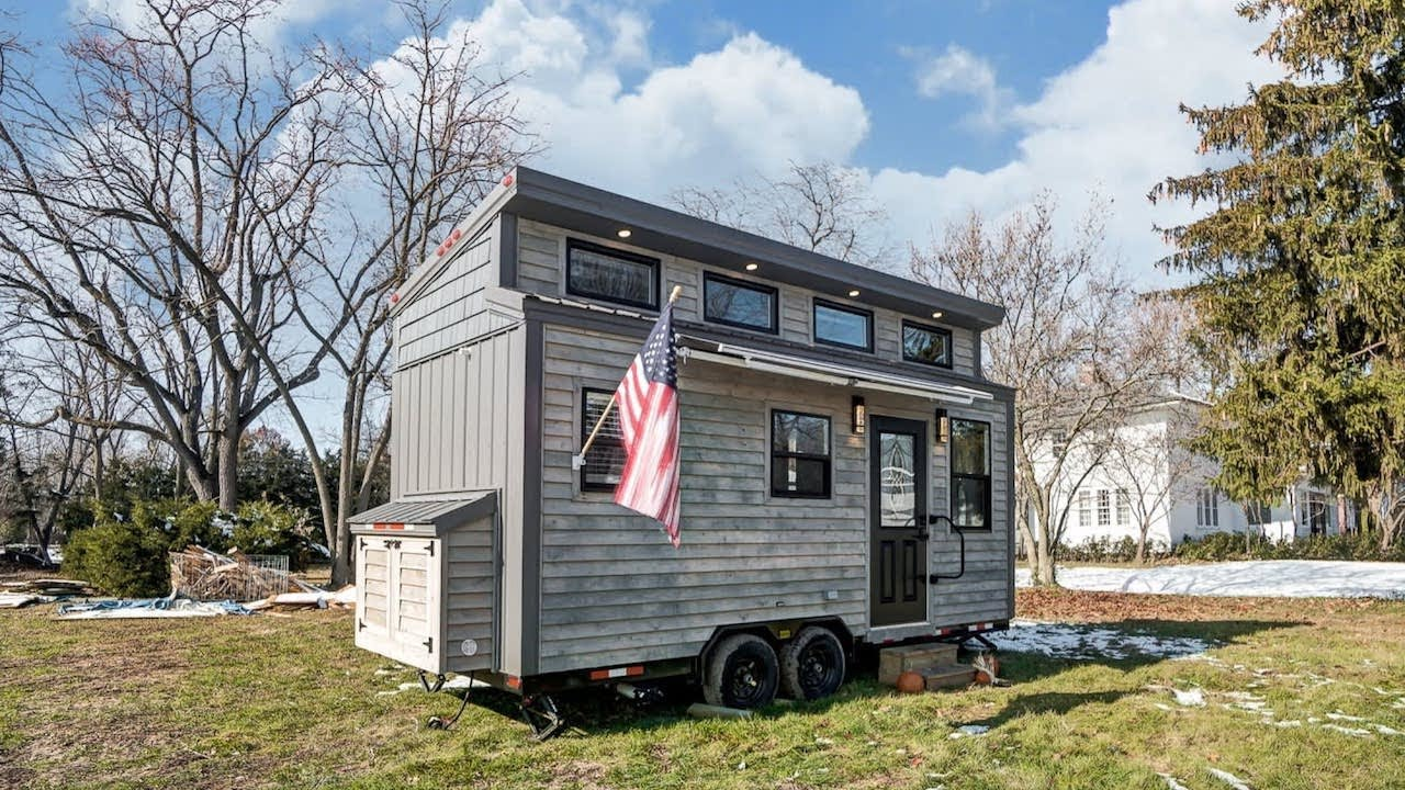 Clever Tiny House Layout Sleeps Four