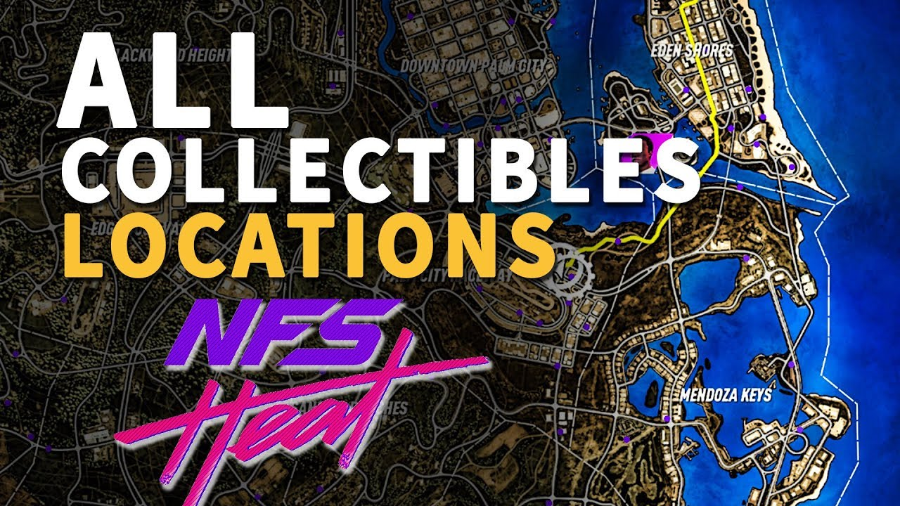 All Bayview Park Collectibles Locations Need For Speed Heat Youtube