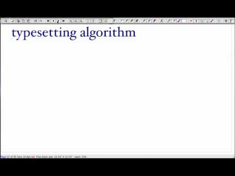 Algorithms - Lecture 11: Dynamic Programming, Typesetting and Seam Carving