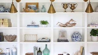 How-to Style Your Bookshelves