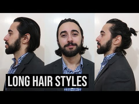 Long Hair Styles For A Job Interview // 3 Men's Long Hair Styles