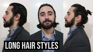 Long Hair Styles For A Job Interview 3 Men S Long Hair Styles Youtube
