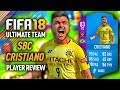 FIFA 18 SBC CRISTIANO (83) *99 STRENGTH* PLAYER REVIEW! FIFA 18 ULTIMATE TEAM!