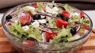 Салат за 10 минут вкусный красивый и никакого майонеза Любимый Греческий салат