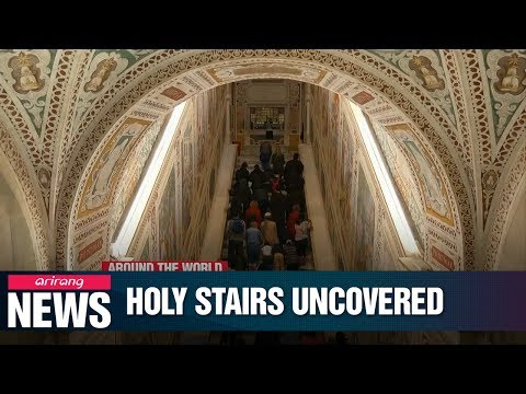 "Rome's ""Holy Stairs"" bared for first time in 30 years"