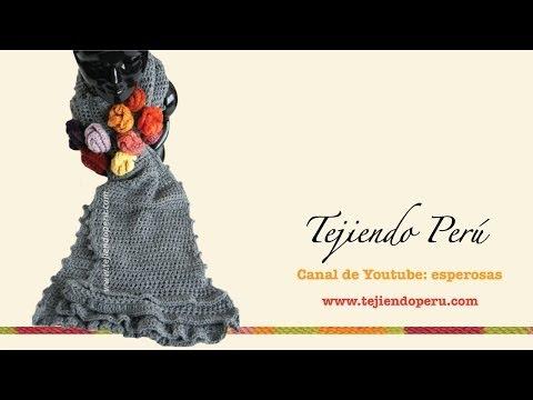 Bufanda Con Bobos Y Flores Tejida A Crochet Parte 1 | Review Ebooks