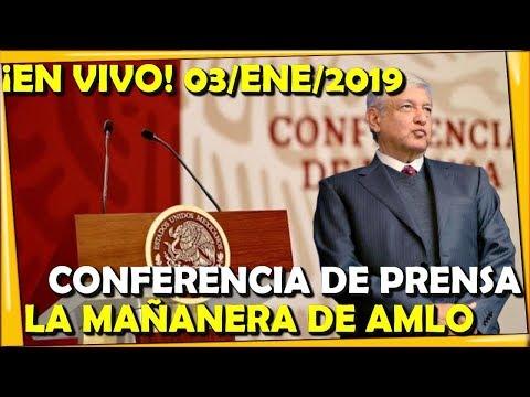 ¡EN VIVO! CONFERENCIA DE PRENSA DEL PRESIDENTE AMLO 03/ENE/2019 - ESTADISTICA POLITICA