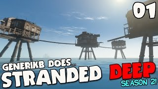 "Stranded Deep Gameplay S02E01 - ""SEA FORTRESS! NEW UPDATE! NEW SEASON!!!"""