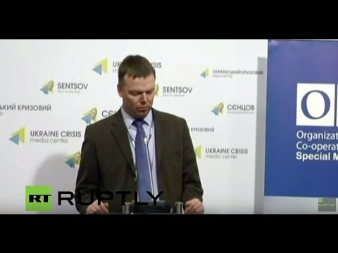 LIVE: OSCE's Alexander Hug to hold news briefing on Ukraine in Kiev