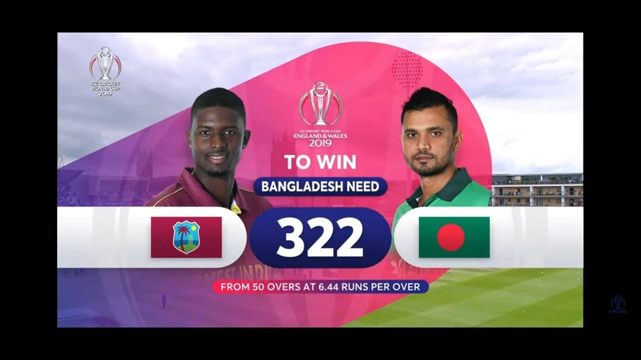 West Indies vs Bangladesh - Highlights | ICC Cricket World Cup 2019 Match 23