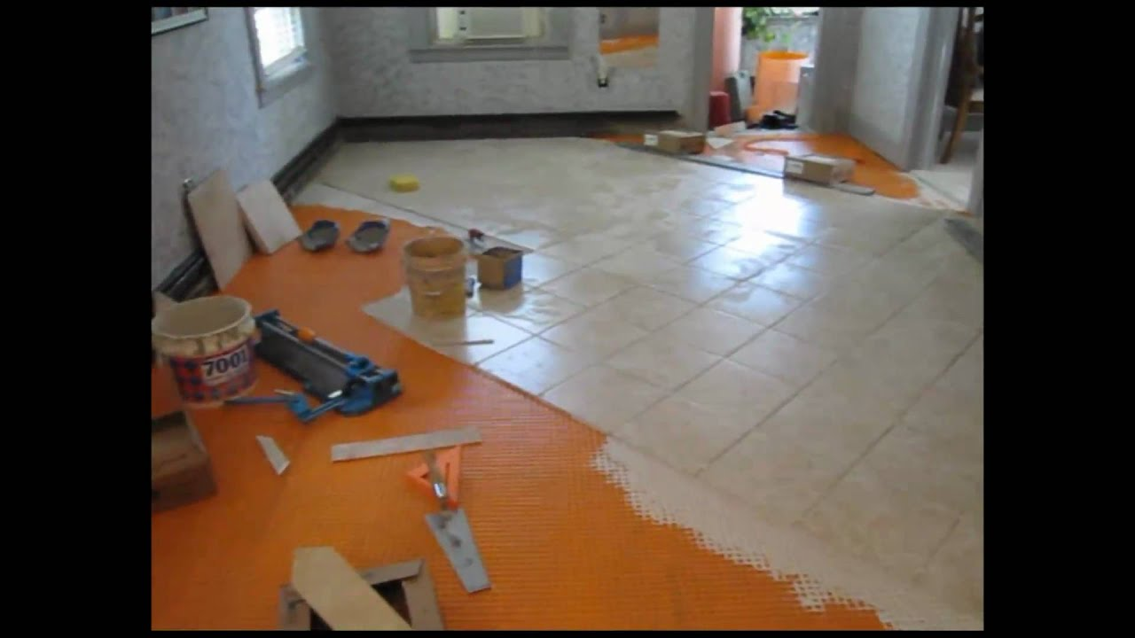 Ceramic tile floor and stairs youtube dailygadgetfo Choice Image