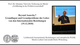 Prof. Dr. Johannes Varwick - Vorlesung
