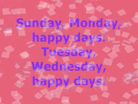 Happy Days of the Week.wmv
