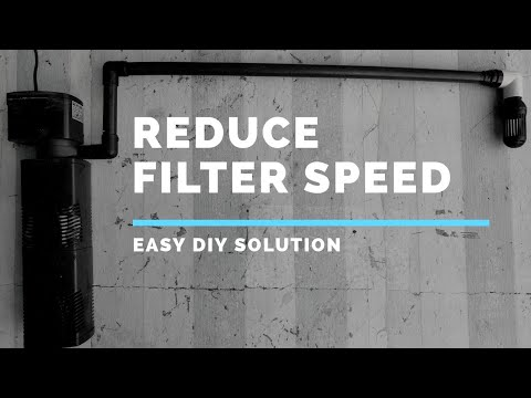 How To REDUCE Internal Filter Speed || DIY || Easy To Do At Home