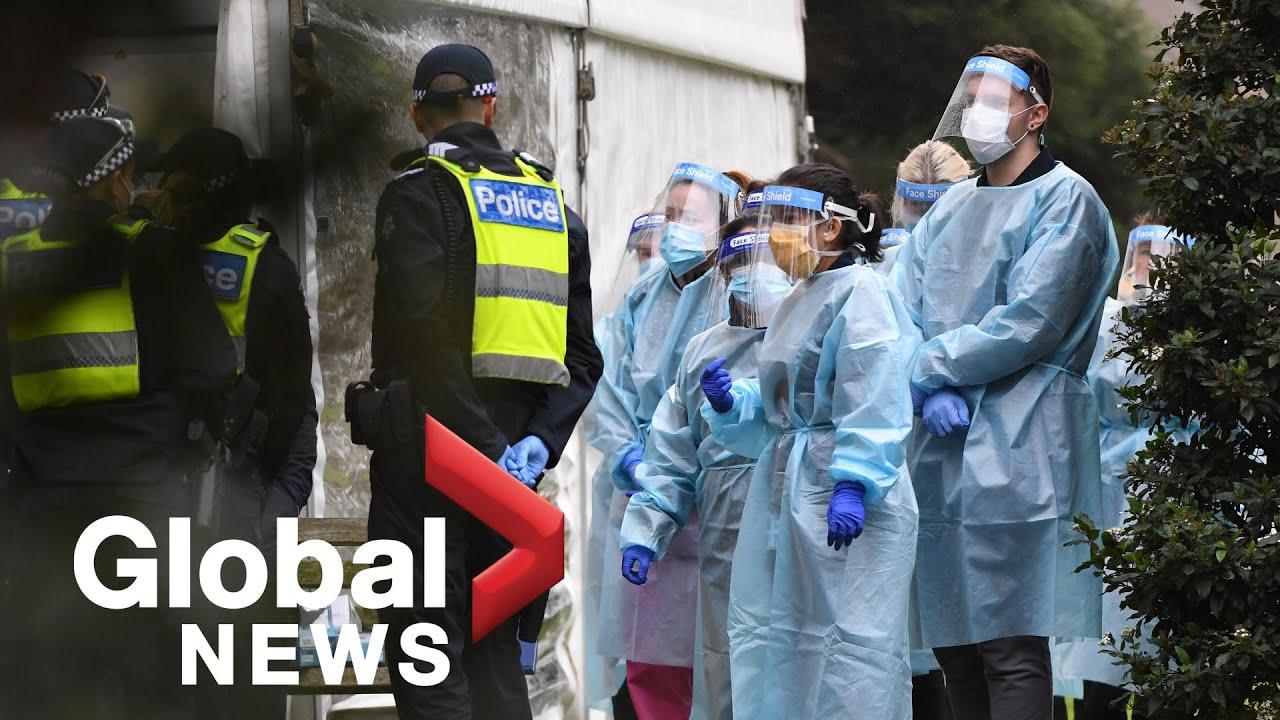 Coronavirus: Australia's second-largest city goes back into lockdown