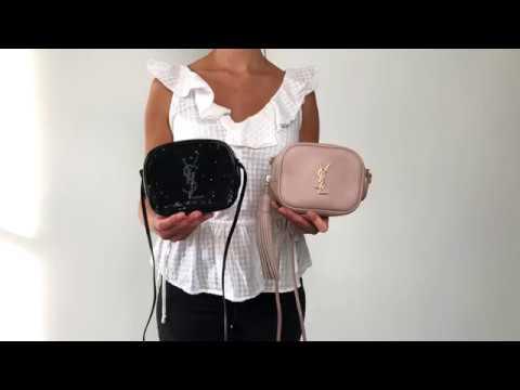 aa2a90e98a Saint Laurent Blogger Bag Black Sequin Vs Pink and Gold - Mini YSL Bag
