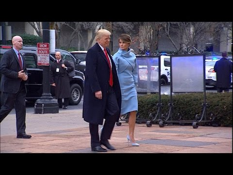 Trumps arrive at church ahead of inauguration