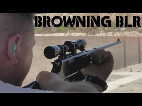 Browning BLR  Lever Action Rifle 7mm Rem Mag  (slow Motion)