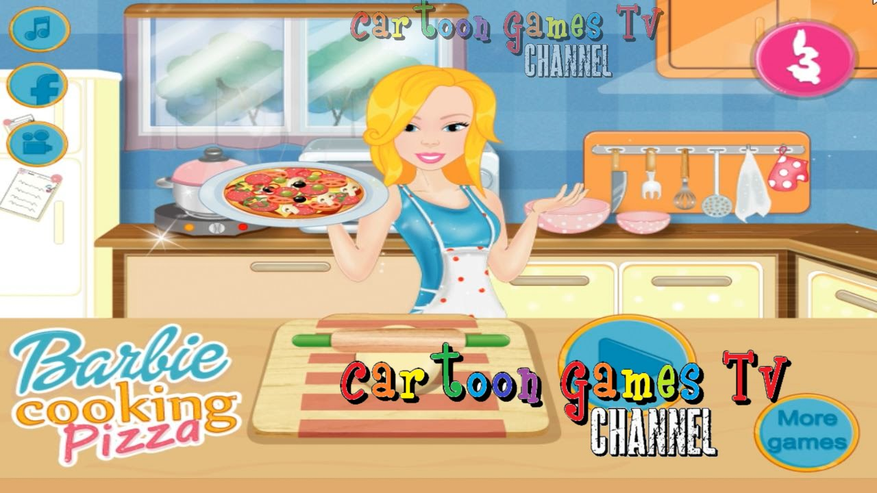 Barbie Cooking Pizza: kitchen games for Girls! - YouTube