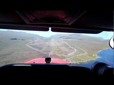 Landing at Vagar Airport in the Faroe Island