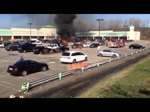 Car fire in Hackensack New Jersey Home Depot Saturday, Apri - YouTube
