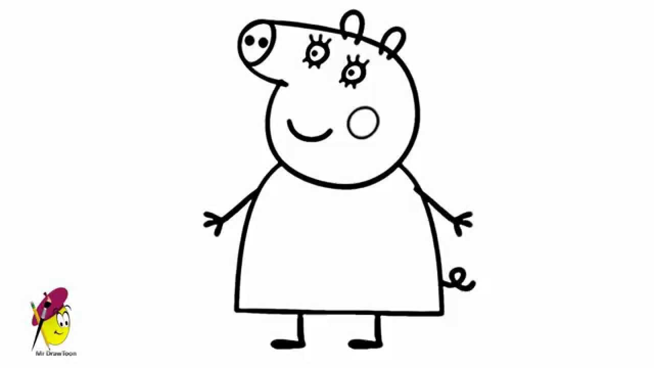 Mummy Pig  How to draw Peppa Pig  mummy Pig  YouTube
