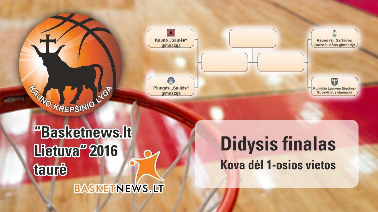 """KKL Basketnews.lt U18: J. Lukšos gimnazija vs Kauno """"Saulės"""" gimnazija"""