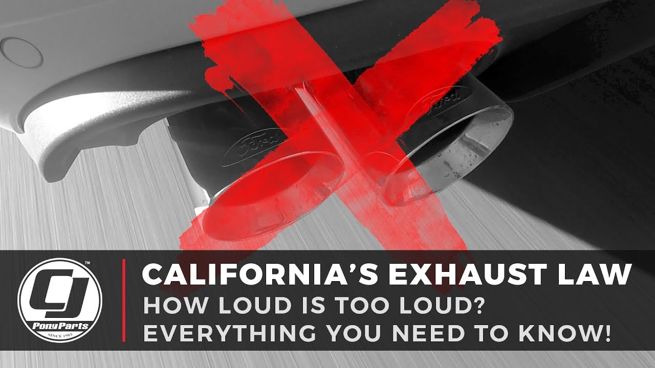 california legal exhaust system 2019