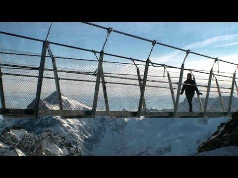El puente suspendido más alto y nuevo de Europa