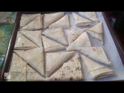 Треугольники из лаваша