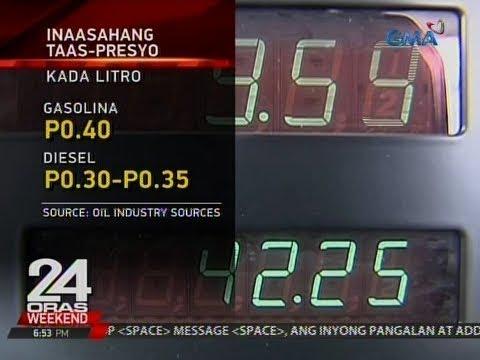 24 Oras: Taas-presyo sa gasolina at diesel, nakaamba sa susunod na linggo