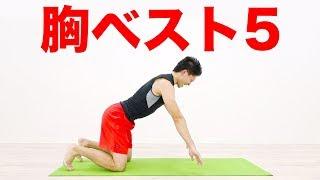 【胸】自重筋トレおすすめベスト5!28日ダイエットDAY12