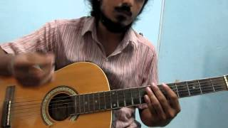 Pani Vizhum (Tamil) - How to play on Acoustic Guitar - Raga based song