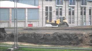 cat d6n lgp dozer grades and compacts top soil