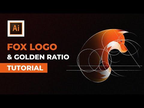 How To Design Fox Logo With Golden Ratio Grid | Illustrator Tutorial thumbnail