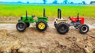 Toy Tractor Tochan // Johndeere vs Swaraj 855 model Tractor tochan