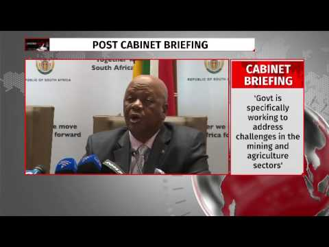 Minister Radebe post cabinet briefing