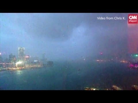 Time-lapse: Typhoon Utor nears Hong Kong