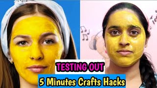 Testing Out Viral Skincare & Makeup hacks from 5minutes Crafts|Tamil Beauty Beats|