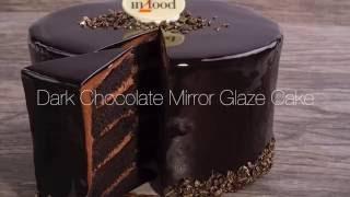 Dark Chocolate Mirror Glaze Cake