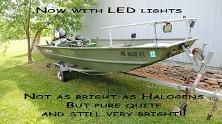 How We Built Our Bowfishing Jon Boat. We Have Since Switched To Led Lights. New Vid Coming Soon