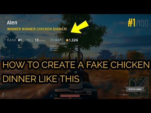 How To Create A Fake Winner Chicken Dinner On Pubg Youtube