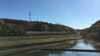 東武8000系 81111F セイジクリーム塗装 男衾~東武竹沢