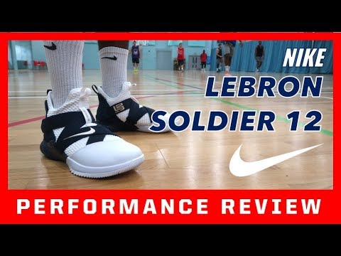 a4a19a34f57 NIKE LEBRON SOLDIER 12 PERFORMANCE REVIEW - YouTube