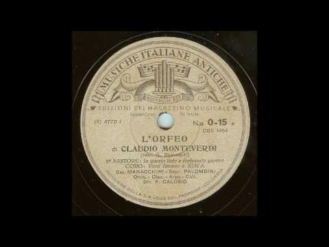 Monteverdi L'Orfeo (first recording, 1939)